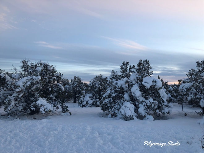 Sunset and snow in Arizona