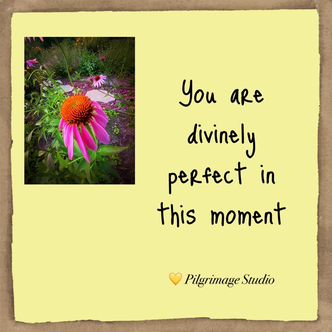 You are divinely perfect in this moment
