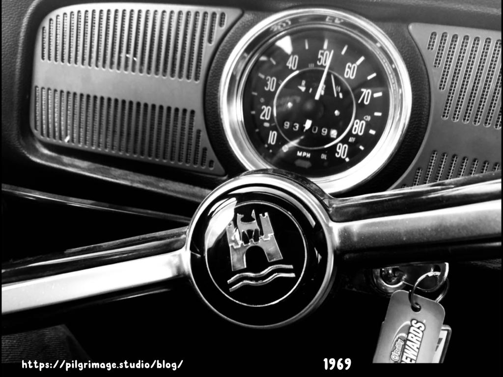 1969 Volkswagen steering wheel and dash